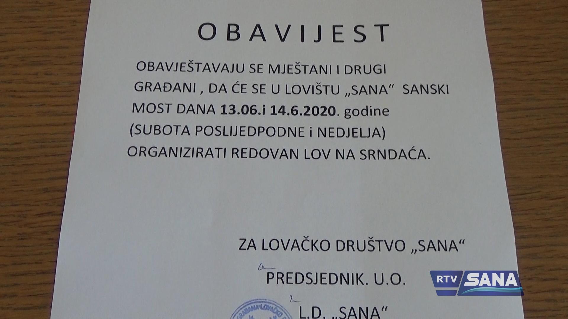 """LD """"SANA"""" ZA VIKEND ORGANIZUJE LOV NA SRNDAĆA"""